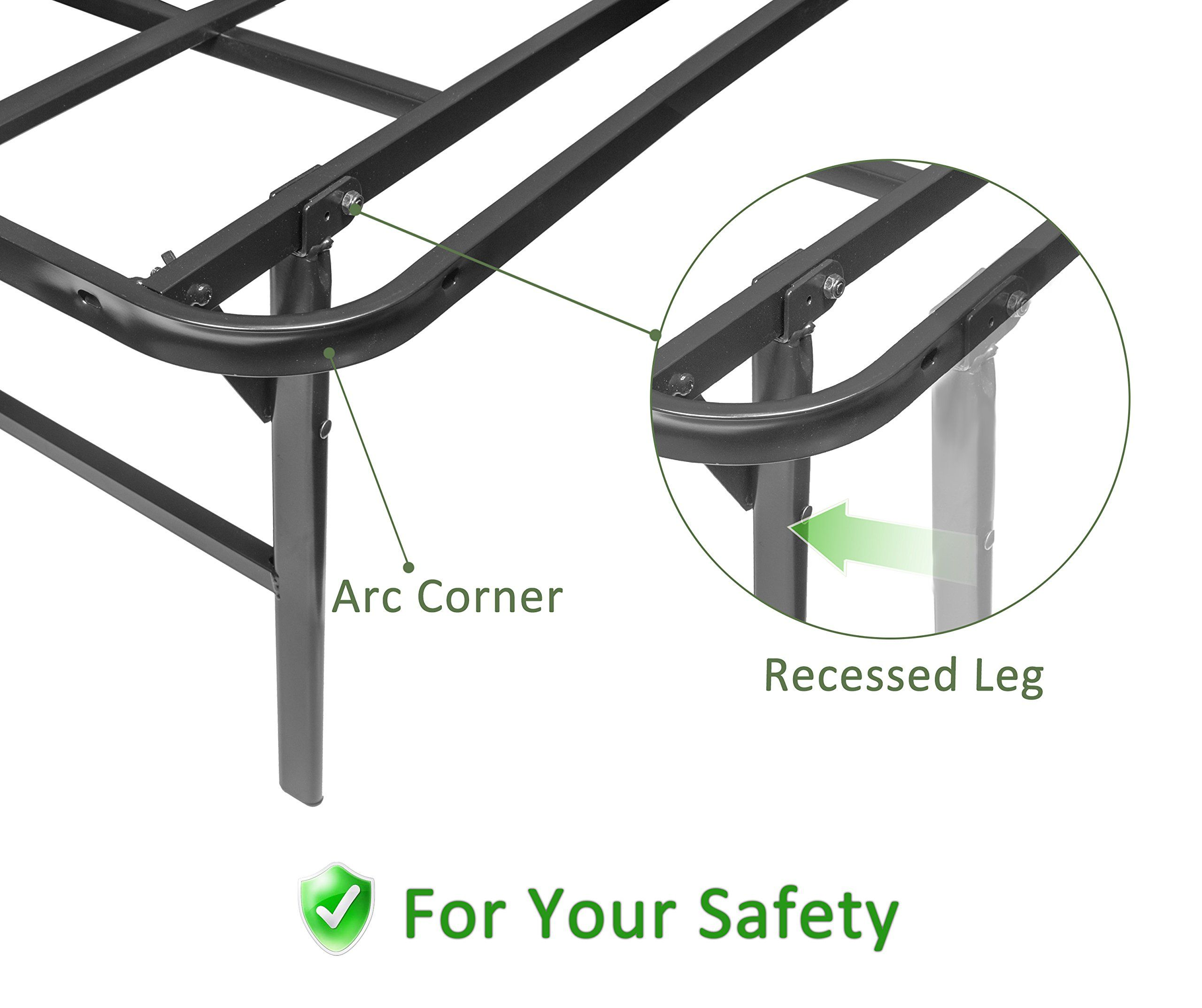45minst 16 Inch Tall Smartbase Mattress Foundation Platform Bed