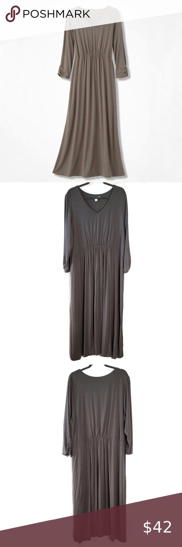 Coldwater Creek Plus Size Maxi Dress Sz 2x Vneck Plus Size Maxi Dresses Solid Maxi Dress Plus Size Maxi [ 1740 x 580 Pixel ]