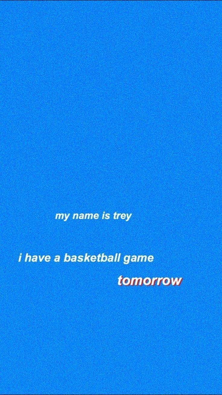 Mitt namn är inte trey och jag spelar inte basket