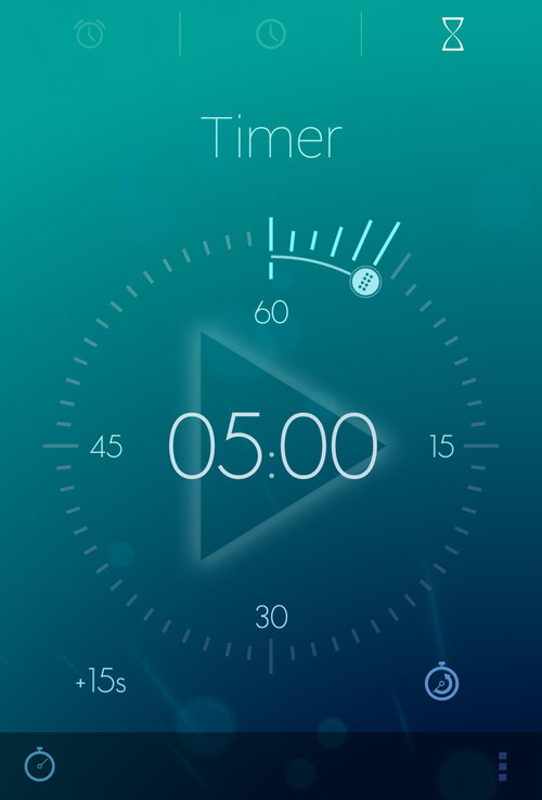 Android Niceties Timer app, Ios design, Alarm clock