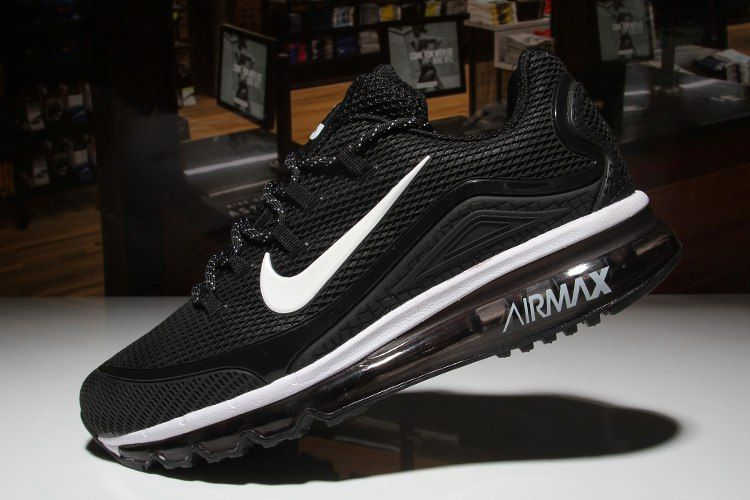 Original Nike Air Max 2018 Elite Hot Black White Shoes For