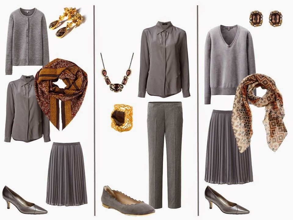 A Grey Capsule Wardrobe With Brown Accessories The Vivienne Files Brown Accessories Grey Wardrobe Brown Outfit