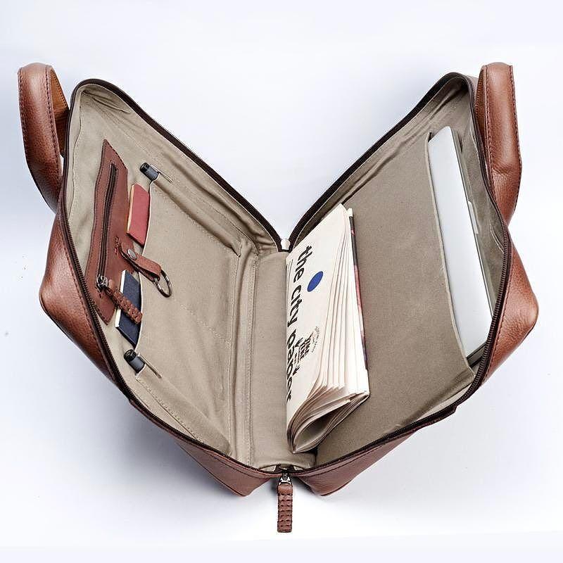 8f1191c30326 Roko Briefcase · Brown | Đồ da | Mens leather laptop bag, Leather ...