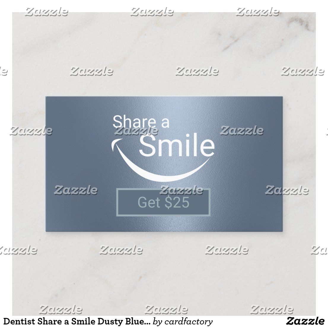 Dentist Share A Smile Dusty Blue Dental Referral Zazzle Com Referral Cards Standard Business Card Size Dentist