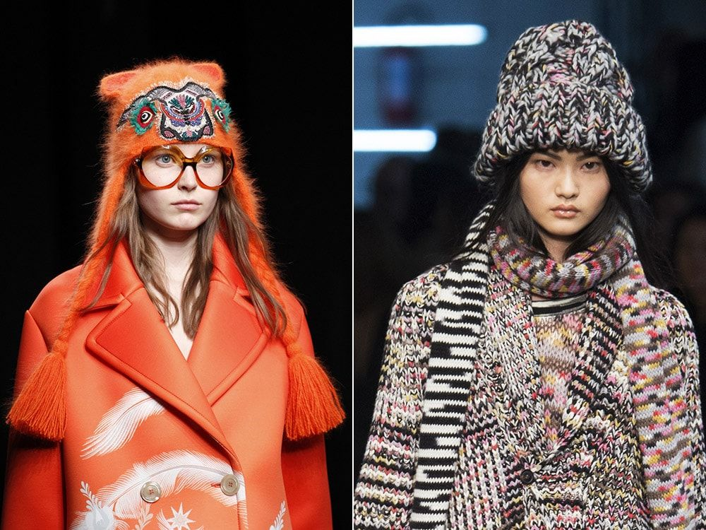 a532091caf6 Women s knitted caps and hats fall winter 2016 17 trends