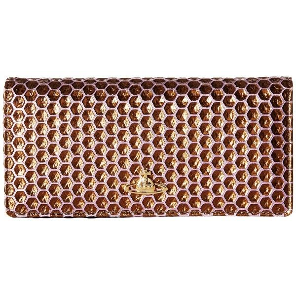 b97bb33b68 Vivienne Westwood Braccialini Honey Comb Long Wallet with Chain... (£175) ❤  liked on Polyvore featuring bags, wallets, vivienne westwood wallet, ...