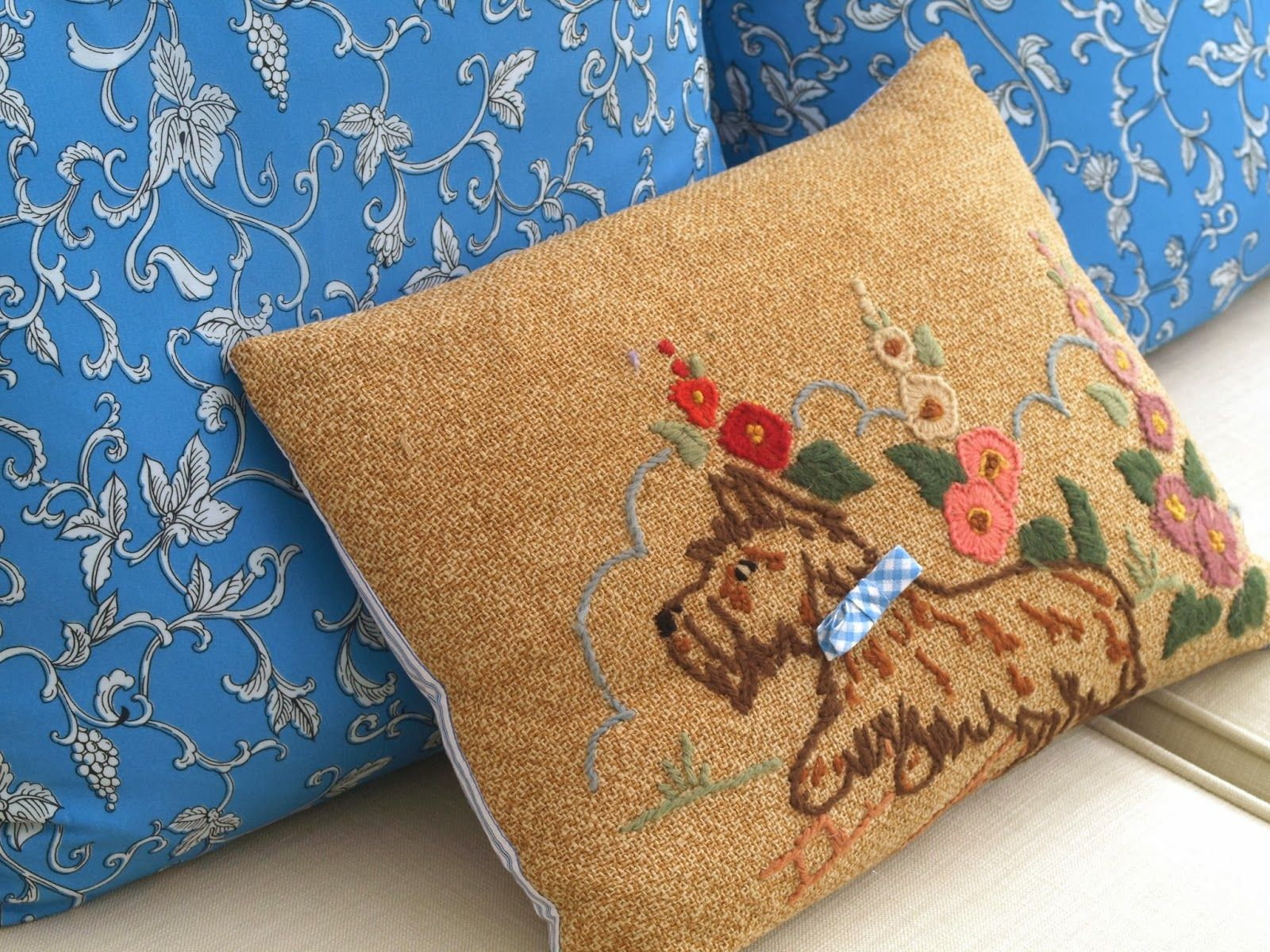 Freshly found recycled sari pillow covers recycled antimacassar