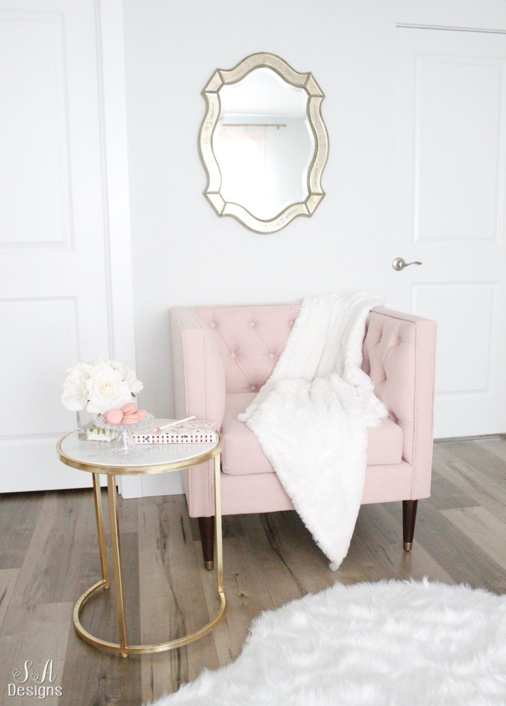 Updated Glam Office Reveal With Blush Pink Walls Home