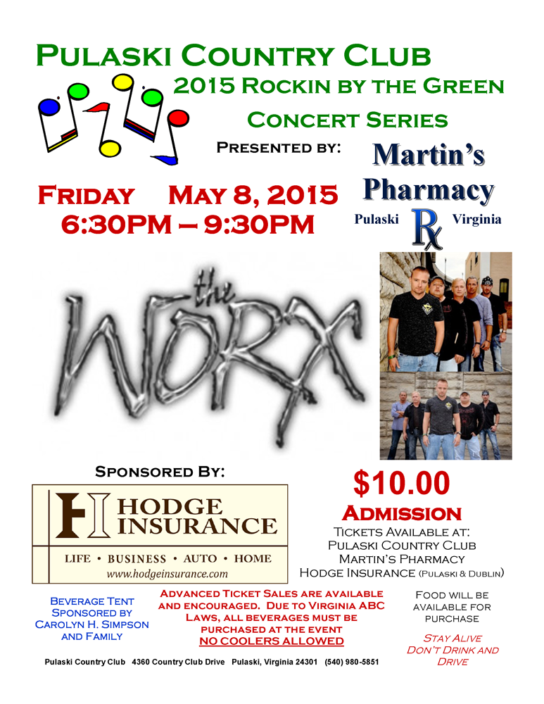 The Pulaski Country Club Presents Rockin By The Green Outdoor