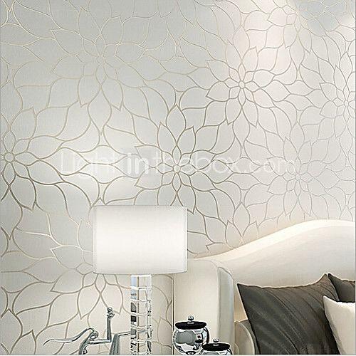 Floral papel pintado contempor neo revestimiento de pared papel no tejido s l mparas papel - Papel para cubrir paredes ...