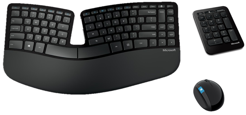 Kit Teclado Mouse Microsoft Inalambrico Sculpt Ergonomic The Geek Shop Compras Audifonos Interfaz