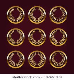 Photo of Vetor stock de Set Luxury Gold Labels Medals Stickers (livre de direitos) 192461879