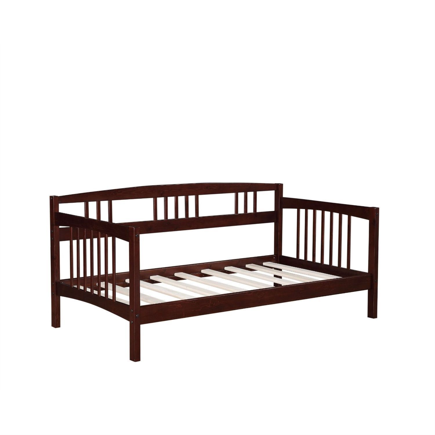 Twin size Day Bed in Espresso Wood Finish - Trundle Not Included ...