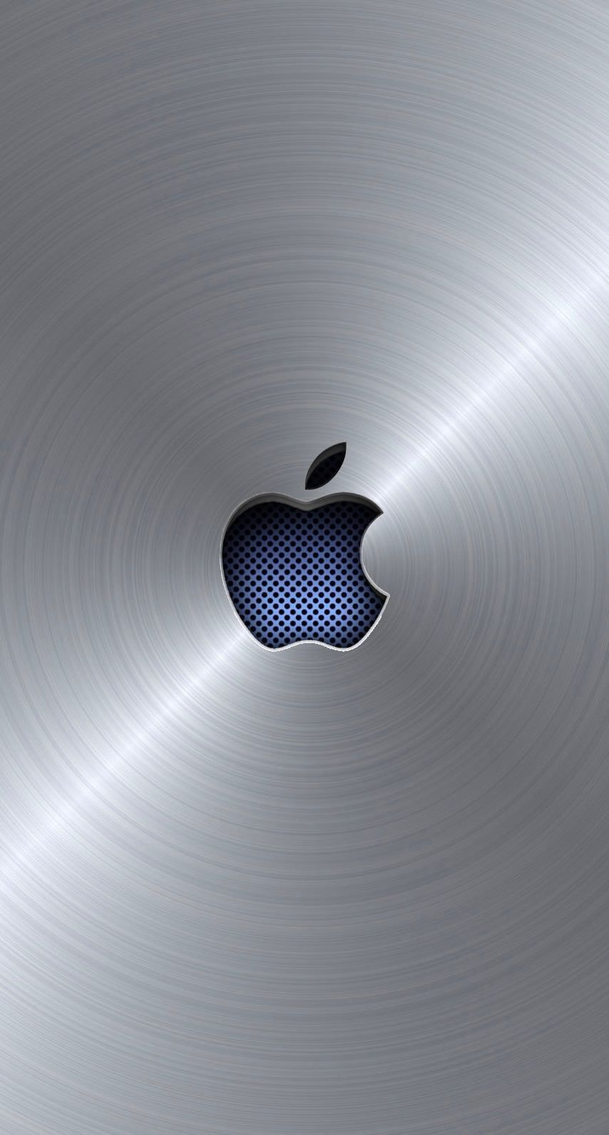Apple logo cool blue silver wallpaper.sc iPhone6s