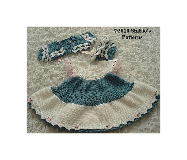 8a83aca1a24f Ravelry  Baby Dress Crochet Pattern  156 pattern by ShiFios Patterns ...