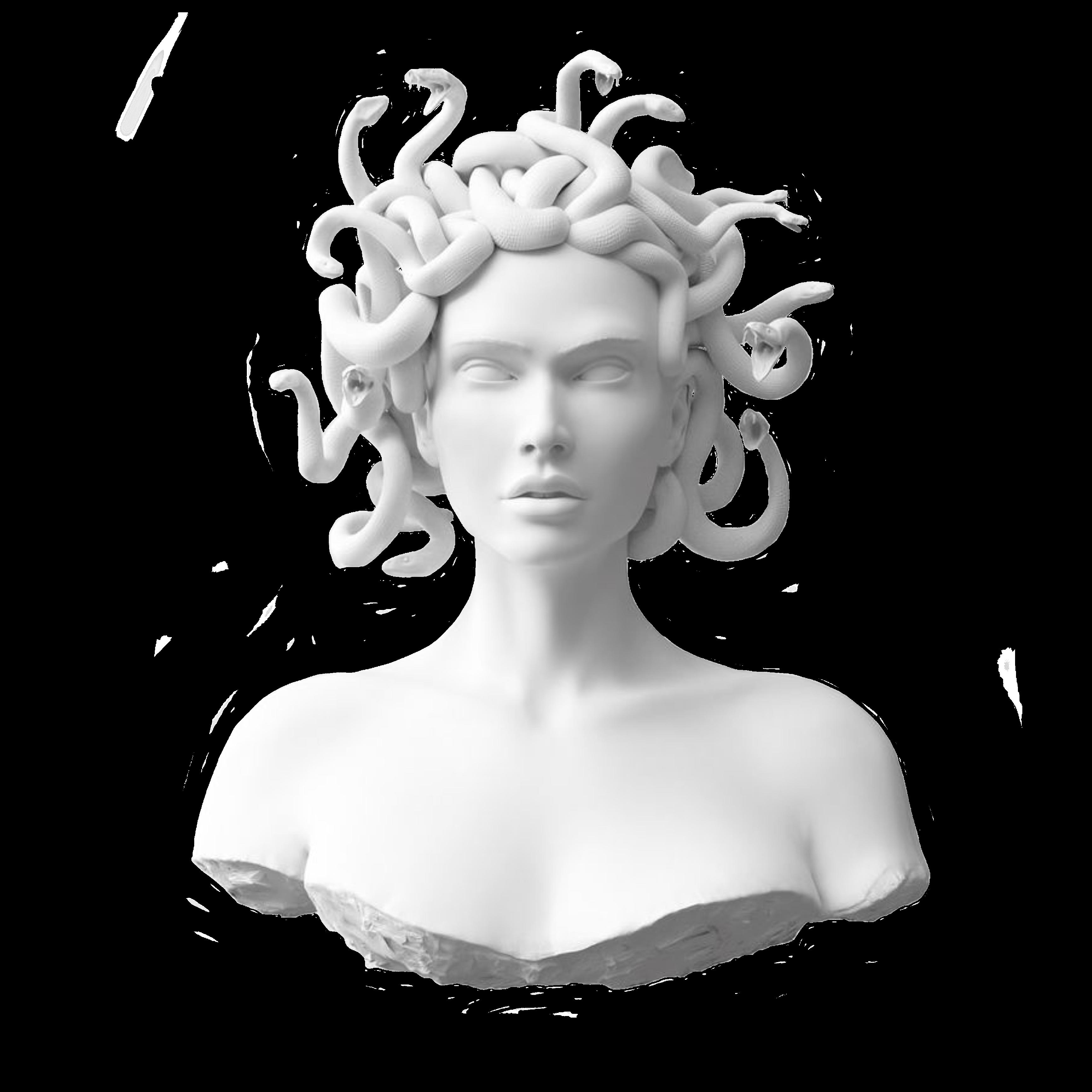 Freetoedit Madusa Snakes Bust Mythology Greek Sculpture Greek Statues Art
