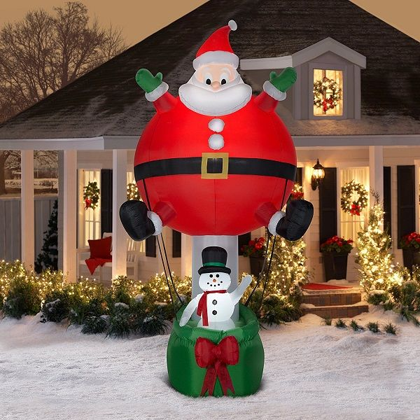 Christmas Santa Ballon Airn Inflatable Perfect For Parties Events And Outdoor Decoration Features Of
