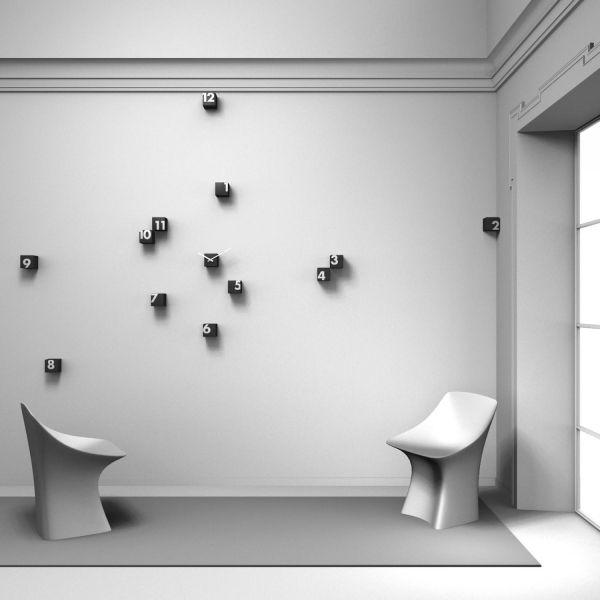 Wanduhr Design 20 Kreative Ideen Für Moderne Wandgestaltung - moderne wanduhren wohnzimmer