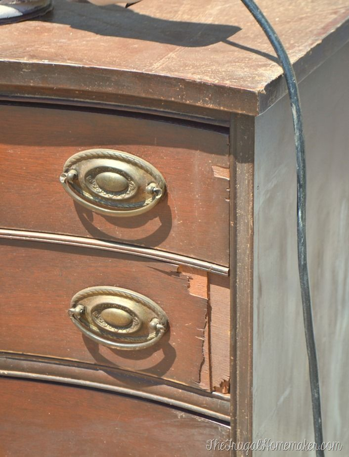 How To Repair Chipped And Broken Veneer Turn Your Furniture Into A Beautiful Showpiece Via Thefrugalhomemaker