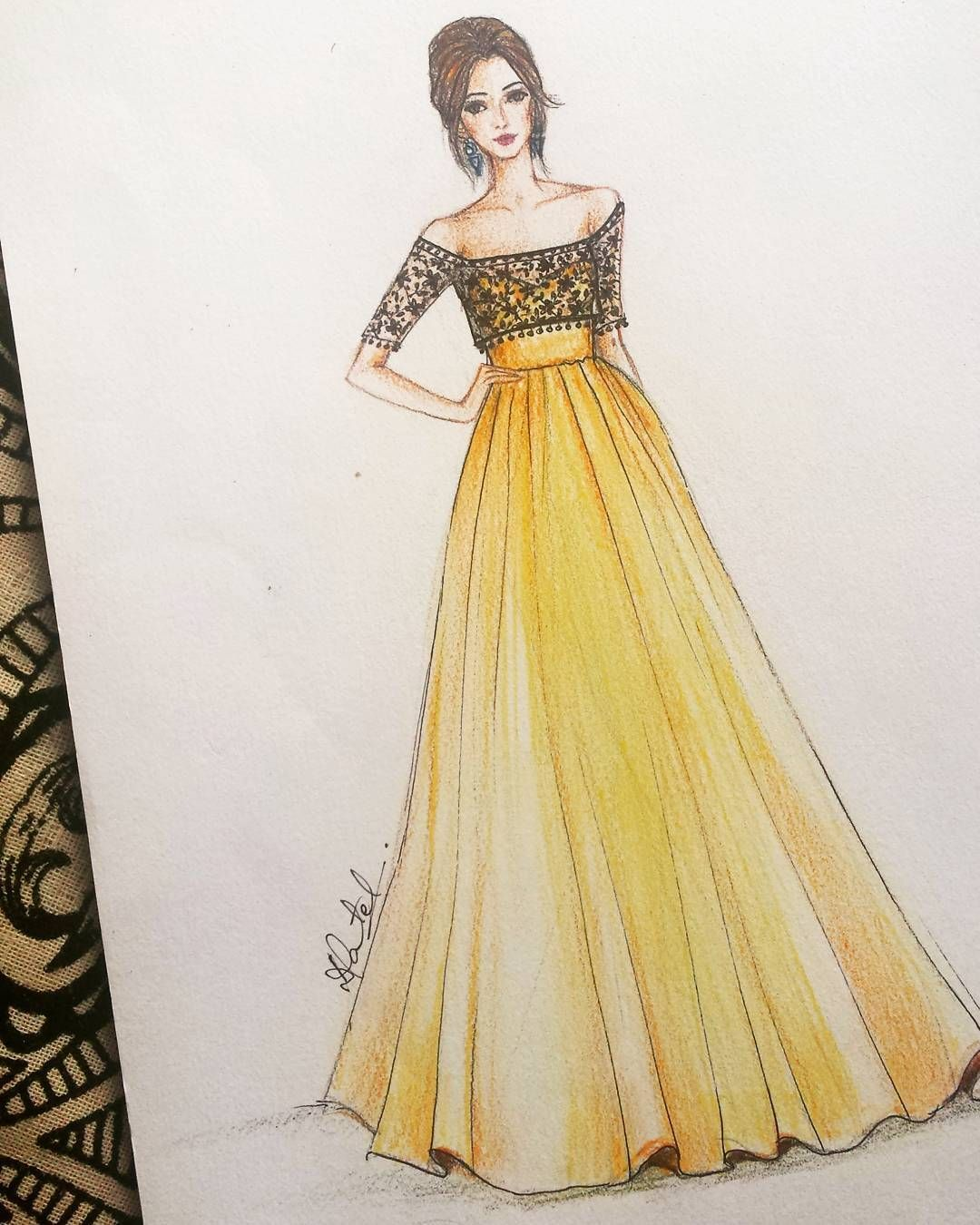 6 975 Followers 132 Following 240 Posts See Instagram Photos And Videos Fashion Drawing Dresses Fashion Illustration Sketches Dresses Dress Design Drawing
