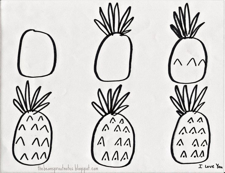 How To Draw A Pineapple A Step By Step Guide For Kids Draws Like