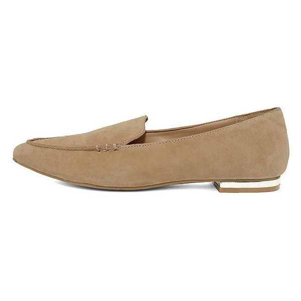 1e40ced9e5f Steve Madden Fausto Camel Suede Leather Loafers ( 79) ❤ liked on Polyvore  featuring shoes