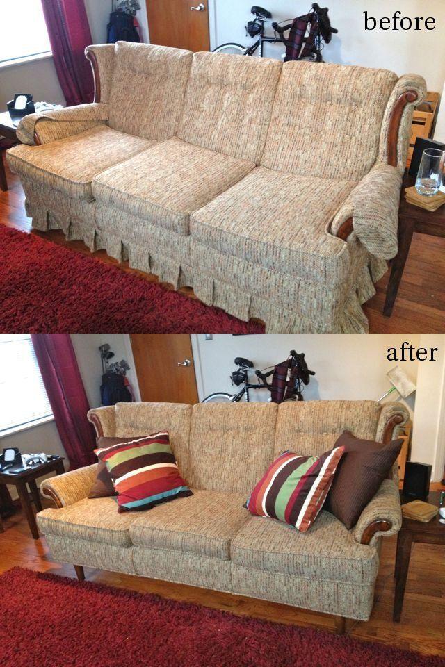 Taking Our Skirts Off John Carolyn Living Room Redo Furniture Diy Furniture