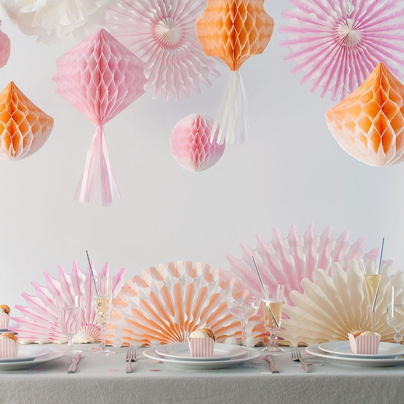 Tissue Paper Fan Centerpiece Runner