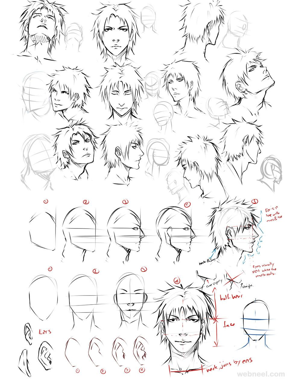 How To Draw Anime Tutorial With Beautiful Anime Character Drawings 13 Anime Drawing Male By Moni Face Drawing Anime Drawings Drawings