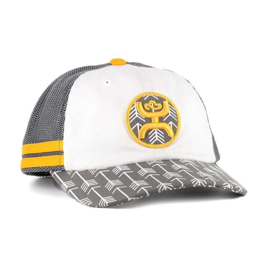 Hooey Women s Gray Yellow Lozen Arrow Snap-Back Ball Cap 1576T-GYWT ... 19e5057a0b5b