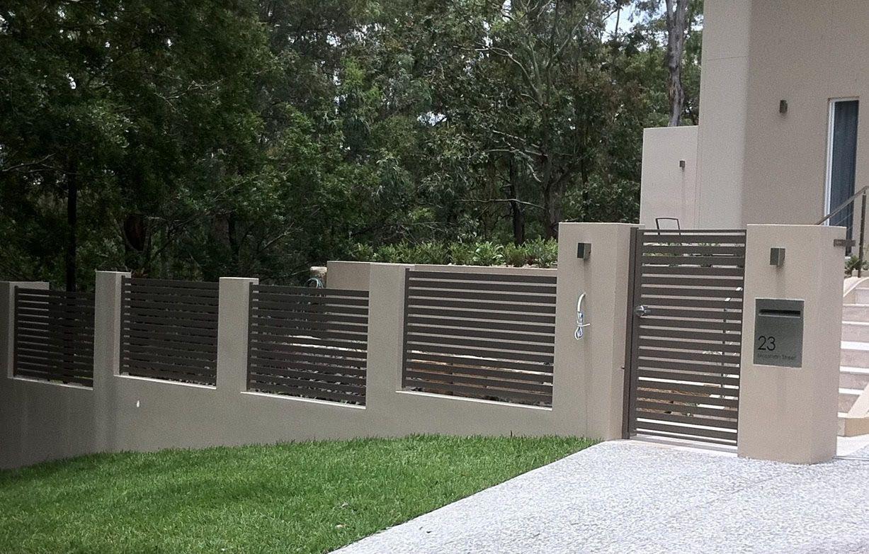Slat Screening In 2020 Horizontal Slat Fence Slats Curb Appeal