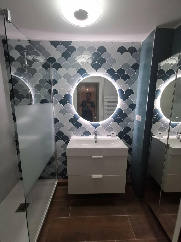 salle d'eau  kozikaza meuble blanc ixina