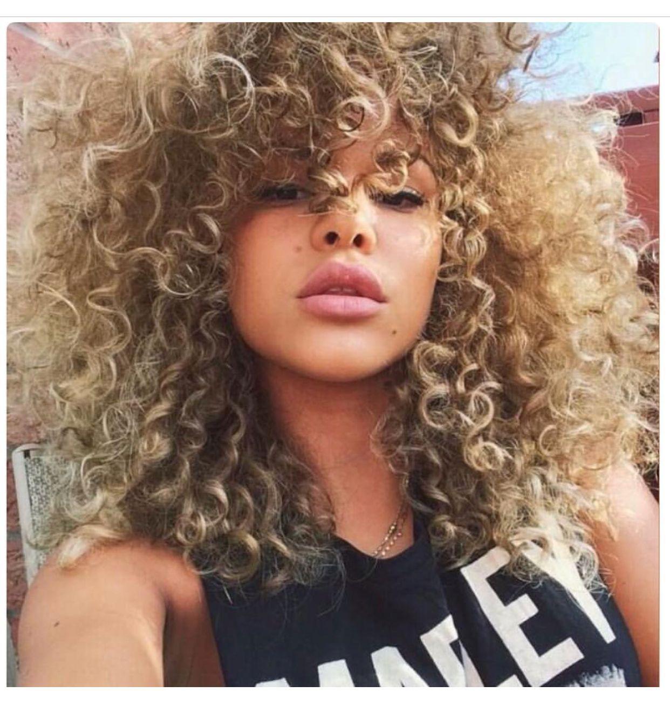 pinterest: @theaniyalation   hair   blonde hair girl, curly