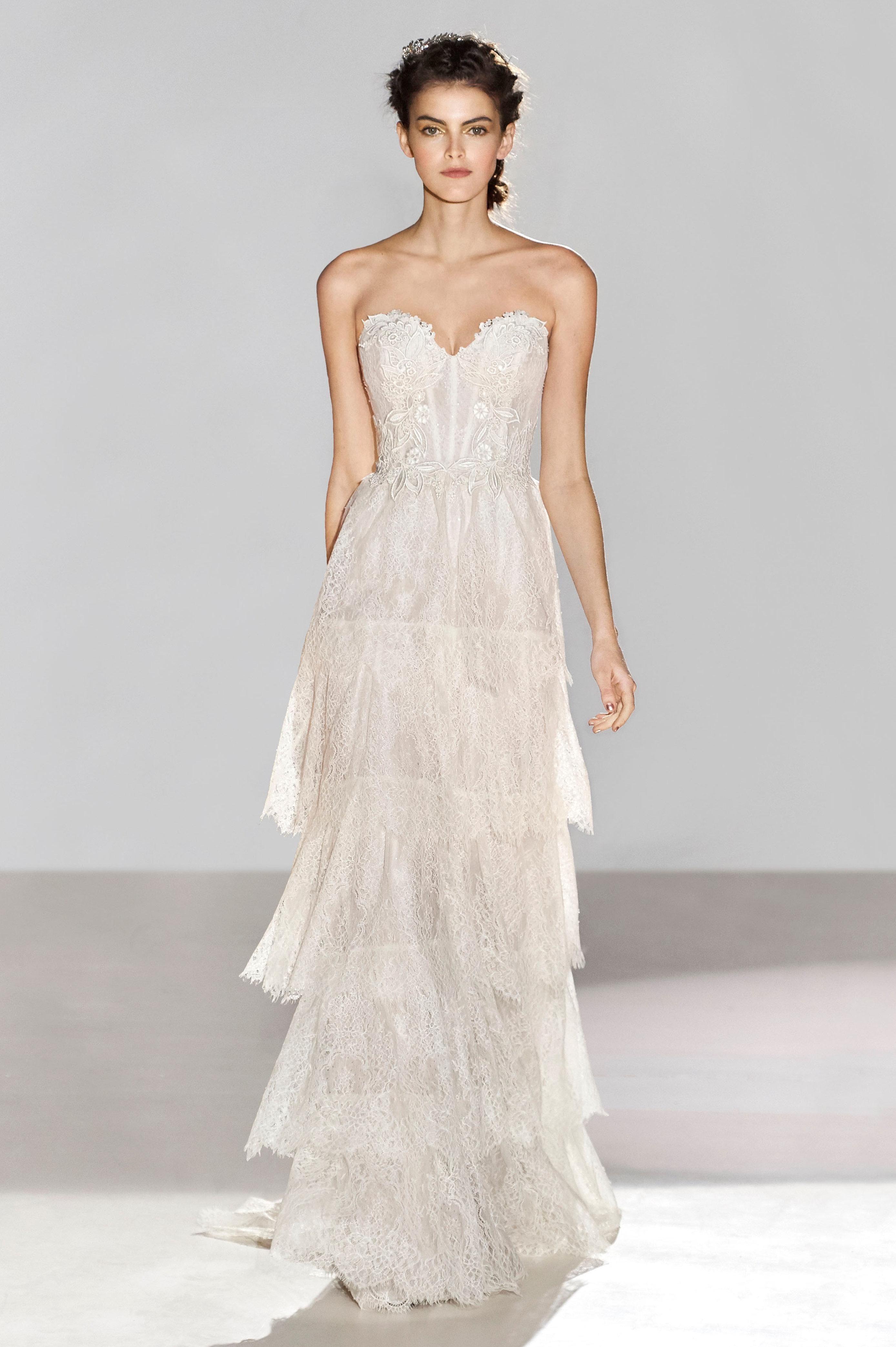 Lazaro Spring 2018 3659 Bridal Gown as seen on Demi Lovato ...