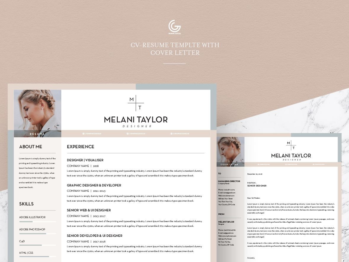 Free CVResume Template With Cover Letter 2018 Cv resume
