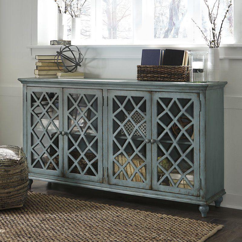 Nicci 2 Door Mirrored Accent Cabinet Cabinet Furniture