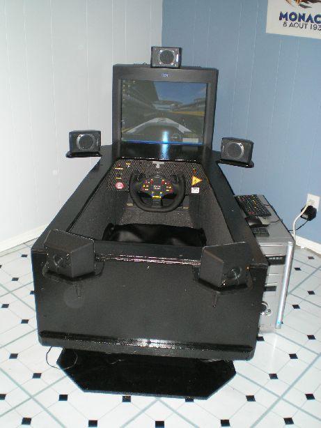 home made arcade driving cab arcade flight simulator cockpit arcade gaming setup. Black Bedroom Furniture Sets. Home Design Ideas