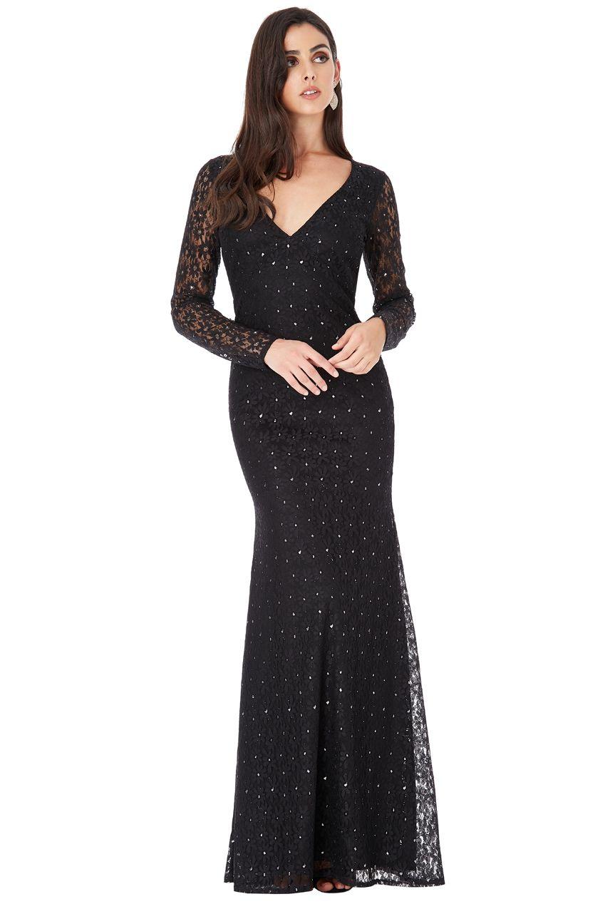 e17da47d48d Dámské dlouhé krajkové šaty