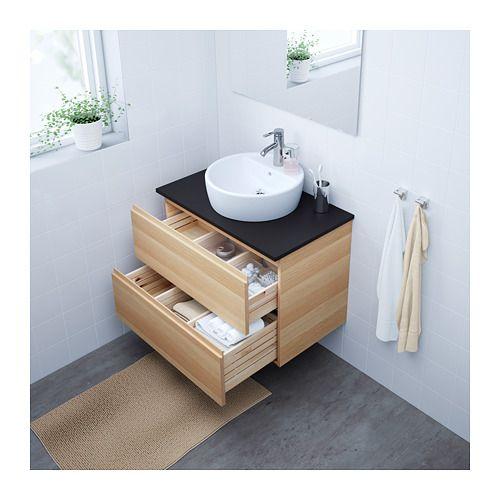 GODMORGON/TOLKEN / TÖRNVIKEN Meuble lavabo av lavabo à poser 45 - Renovation Meuble En Chene