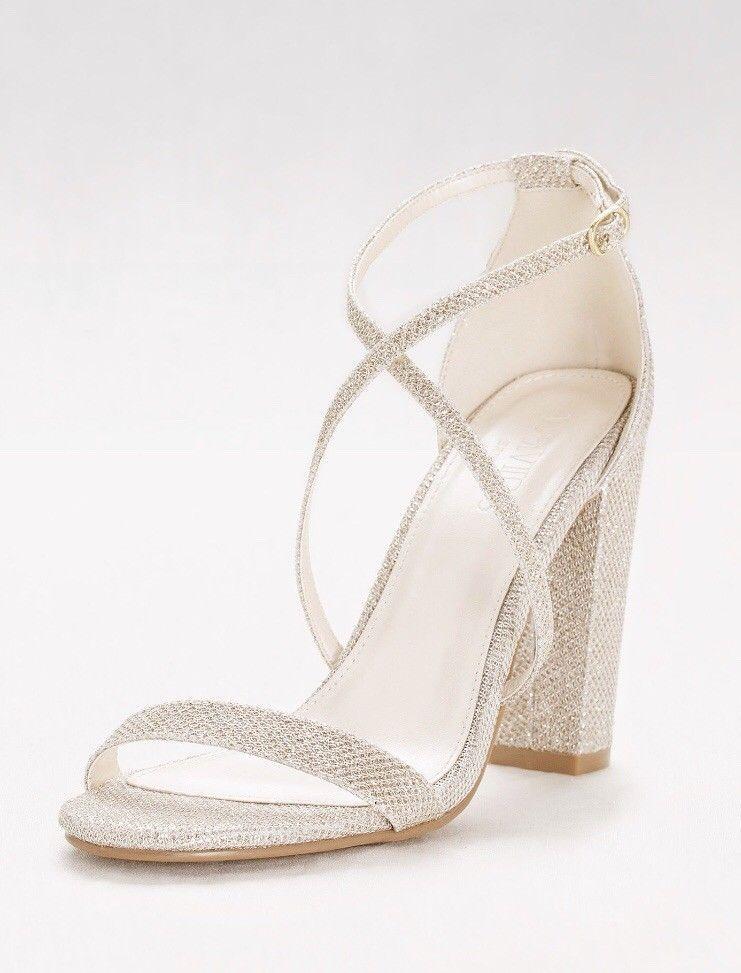 00eb9655c250ae Crisscross Strap Block Heel Sandals Davids Bridal  fashion  clothing  shoes   accessories  womensshoes  sandals (ebay link)