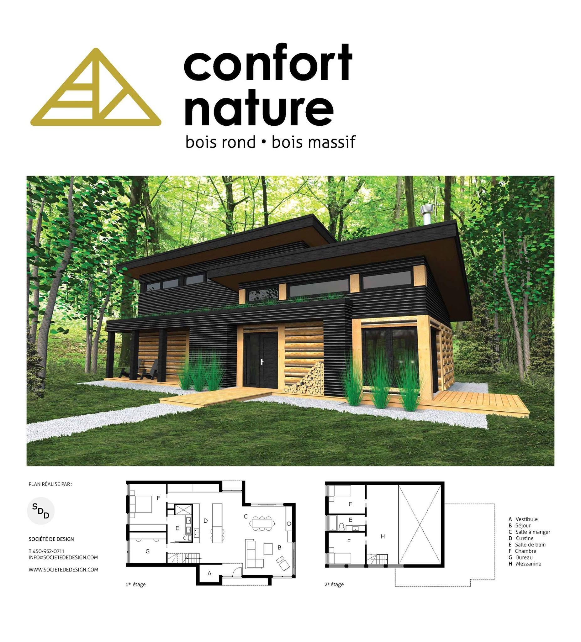 Societe De Design Building Plans House Small Modern House Plans House Plans