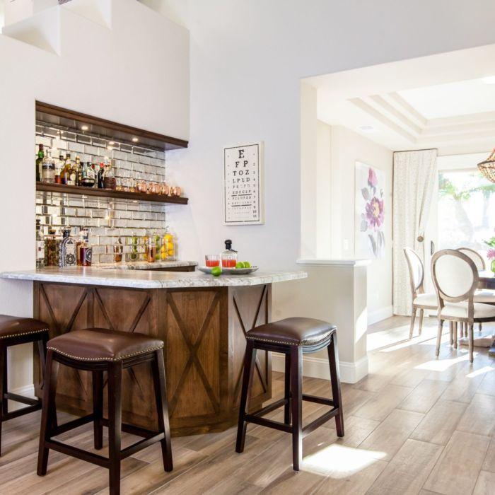 Carmel Valley Transitional Custom Bar Design By