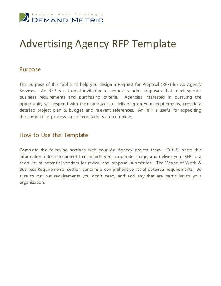 5 Rfp Digital Marketing Templates Word Excel Templates Marketing Template Writing A Business Proposal Proposal Cover