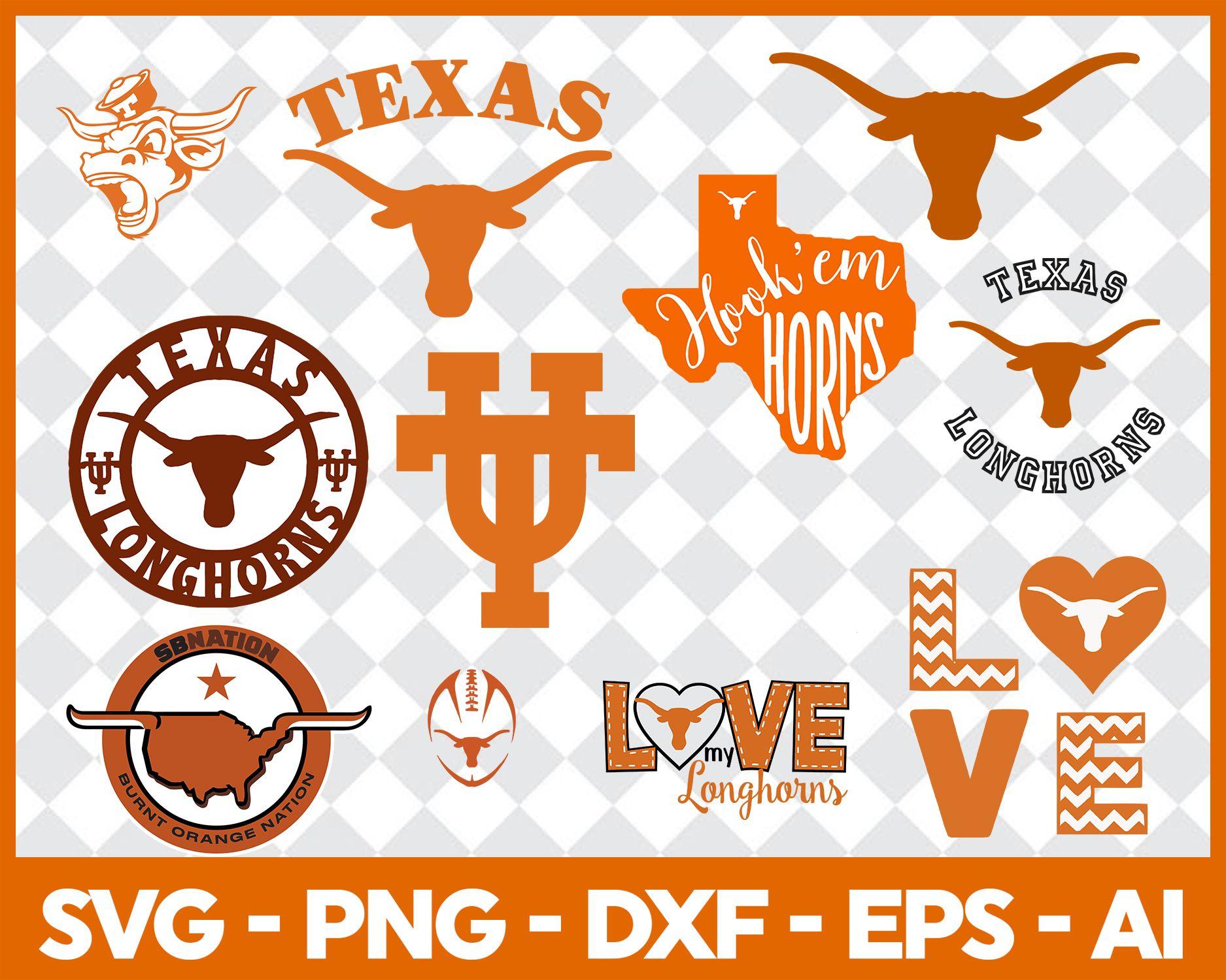 Texas Longhorns svg,Football Team Logo Svg, Football Svg