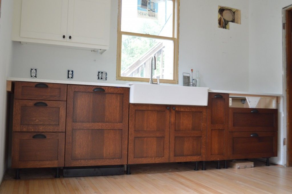 Ordinaire GORGEOUS DIY Stickley Finish On Quartersawn Oak Cabinet Fronts Over IKEA  Cabinets!! So Beautiful!