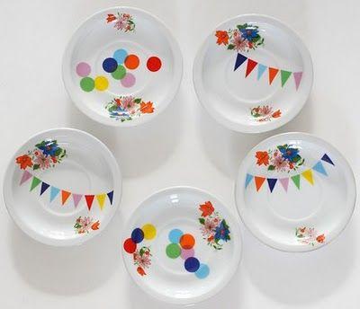 kids plates - illustrating mixing prints