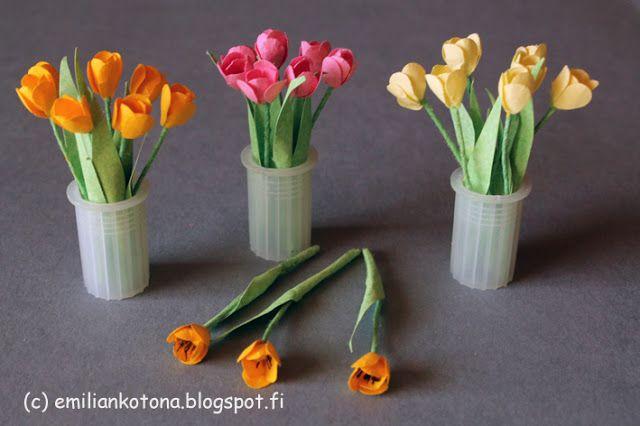 Tulips - Dollhouse Miniature - Emilian kotona Home blog