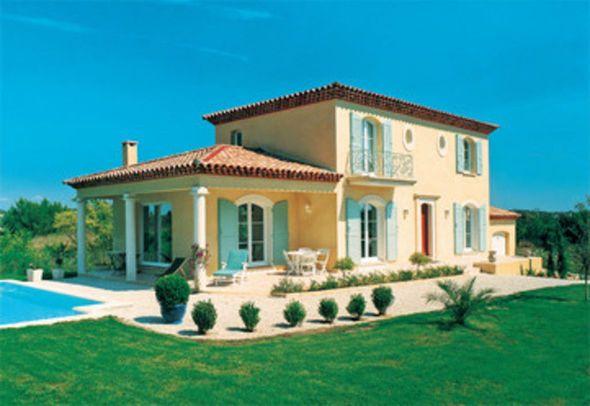 Villa méridonale tradionnelle Plans maison, Plans et Bastide