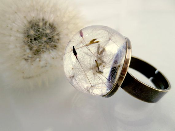 Hey, I found this really awesome Etsy listing at https://www.etsy.com/listing/170311601/dandelion-ring-make-a-wish-orb