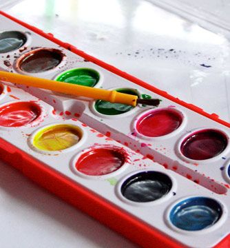 Preparing Watercolor Paints For Painting Childhood Memories My